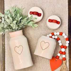 Rae Dunn Valentines Heart Canister Set